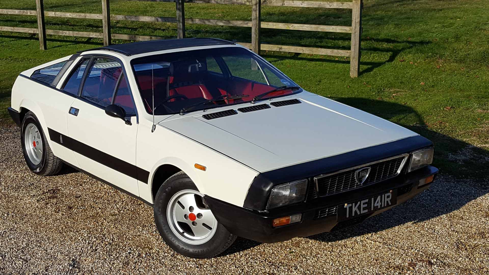 Used LANCIA MONTECARLO, WHITE WITH RED LEATHER , 2.0, Convertible ...